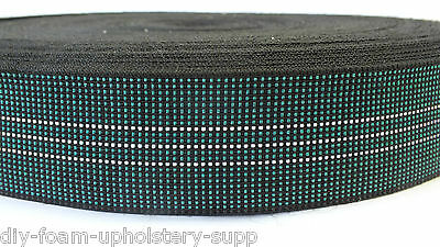 """11 Meters BLUE Elasticated Upholstery Webbing 2/"""" Ercol /& Cintique Chair Seat"""