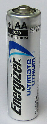 2PC Energizer Ultimate Lithium L91 AA High-Energy Battery L91-VP Bulk