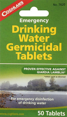 NEW-Coghlan's Emergency Germicidal Drinking Water Tablets Hiking Camping 7620