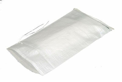 5 White Sandbags w/ ties 14x26 Sandbag,Bags,Sand Bags- Military Grade Barriers