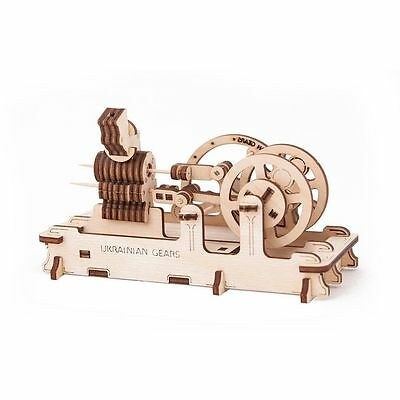 3D Mechanical Puzzle ENGINE, wooden construction kit woodcraft moving toy model