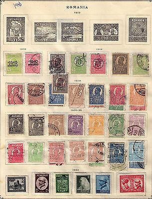 Romania 1918-1948 Amazing collection of 22 pages Mint and Used See Photos HCV