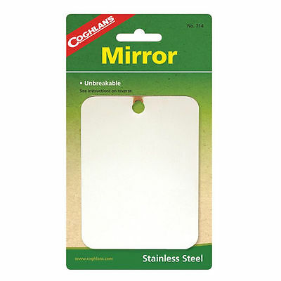 Coghlan's Camping Mirror Stainless Steel Unbreakable Compact Coghlans 714