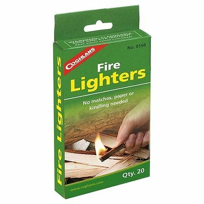 Coghlan's Fire Lighters- Camping Cooking Emergency Firestarting Survival Tinder