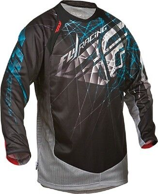 """FLY Racing YOUTH KIDS """"EVOLUTION"""" 2.0 Black Blue Jersey motocross off road"""
