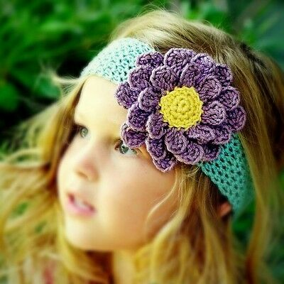 Cute hand knit headband for baby