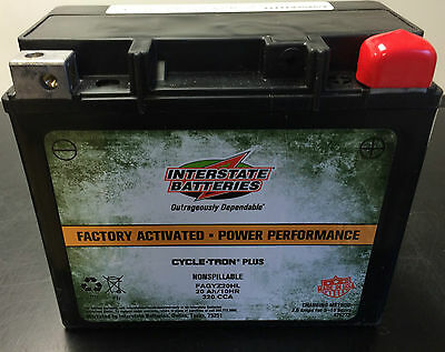 GYZ20HL Interstate Harley-Davidson Battery Replaces YTX20L-BS FAYTX20L-BS