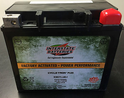 GYZ20HL Interstate Harley-Davidson Battery Replaces YTX20L-BS FAYTX20L FAGYZ20HL