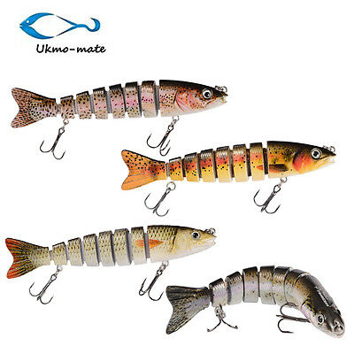 Multi-section Fishing Lure Crank Bait Swimbait Bass Shad Dace Jointed Lures Pike