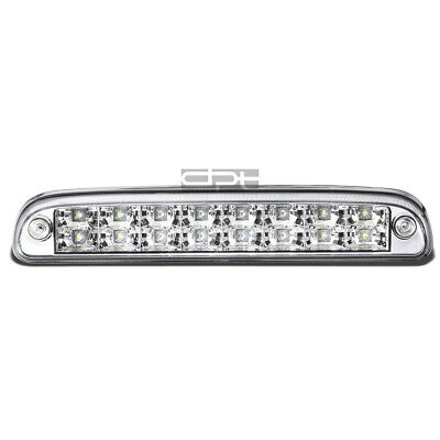 Fit 99-16 Ford Super Duty 2-Row LED Rear Third 3rd Tail Brake Light Lamp Chrome