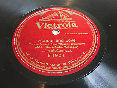 Honour and Love by JOHN McCORMACK {Victrola} One Sided 78 - Excellent