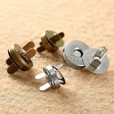 10/50Set 14/18mm Magnetic Fastener Snaps Clasp for Purse Bag Button Sewing Craft