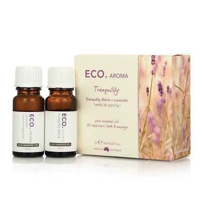 Eco. Aroma Australian Tranquility Essential Oil Duo Pack (2 x 10ml) Natural  NEW