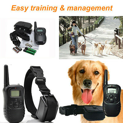 Electric Trainer E-Collar Remote Waterproof Pet Safe Dog Shock Training Collar R