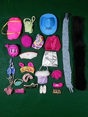 Barbie Accessories Lot #34 – Hats, Bags, Scarf and More  – Used – Good Condition