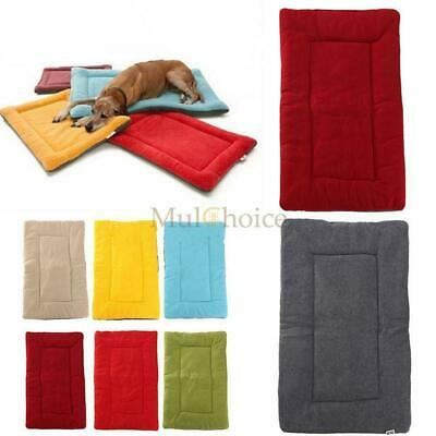 Dog Pet Crate Kennel Warm Bed Mat Padding Colorful 5 Size For Sleep House