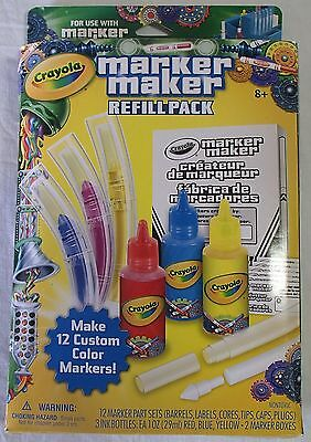 NEW Crayola Marker Maker Refill Pack Ages 8 & Up Make & refill markers textas