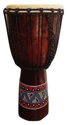 Hand Painted 60cm Djembe Drum World Music Percussion Quality Bongo Free P&P