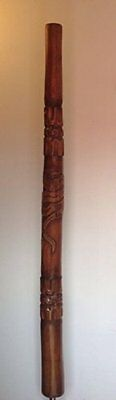 **QUALITY** Traditional Hand Carved Teak Didgeridoo 1.3m Free Case World Music