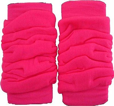 Neon Leg Warmers Dance Party Fancy Dress 80s Rave Clubbing Ballet Womens Girls