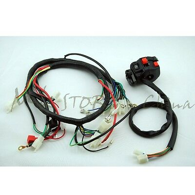 complete electrics atv quad 200cc 250cc cdi coil wiring harness quad wiring harness cluster switch cb cg150 200 250cc chinese electric start