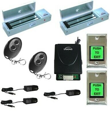 Two Door Buzzing System 1200lbs Magnetic Lock Wireless Kit with Multi-Entry