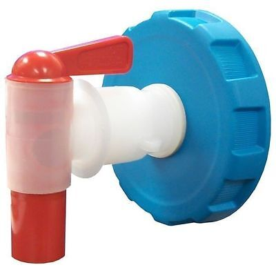 WaterBrick Spigot Storage Container Ventless Pour Tap with Blue Lid Gasket & Nut