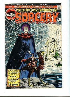 Chilling Adventures In Sorcery 5 . Red Circle . 1974 - G. Morrow - FN / VF