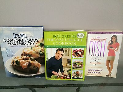 3 Diet/healthy Eating Cook Books(1)Bethany Frankel(2) Bob Greene(3)Jessie Price