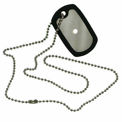 Signal Mirror Tactical Safety Dog Tag w/Chain Survival Emergency BOB PCSA06
