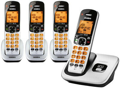 Uniden D1760-4 DECT 6.0 4 Handset Cordless Eco - Friendly Phone W/ Caller ID New