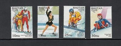 OLYMPICS/SKIING/SKATING  - Bhutan - 1997 set of 4 - MNH-W562