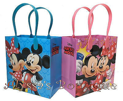 30 pc Minnie Mickey Mouse Party Favor Goodie Bags Gift Birthday Treat Candy Sack
