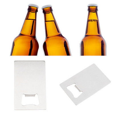 New Beer Bottle Cap Opener Credit Card Size Stainless Steel Bar Tool Gift DH