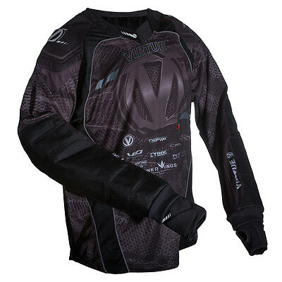 Virtue Elite Pro Paintball Jersey - Black / Charcoal