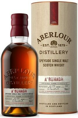 ABERLOUR A'BUNADH ORIGINAL CASK STRENGTH SCOTCH WHISKY 700mL