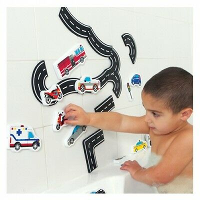 Bath Float Foam Traffic Transport (Tub Fun): Road Vehicle Pretend Water Play Toy
