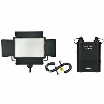 Godox LED500C 3300-5600K Video Light + PB960 Battery Pack + LX Power Cable Kit