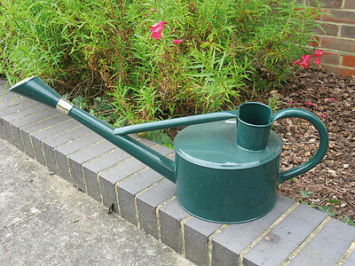 New 5lt Galvanised zinc powder coated garden watering can with green finish
