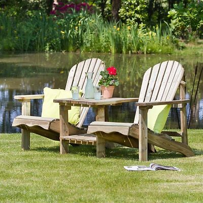 Lily Relax Double Seat Garden Chair Furniture Outdoor Wooden Pressure Treated