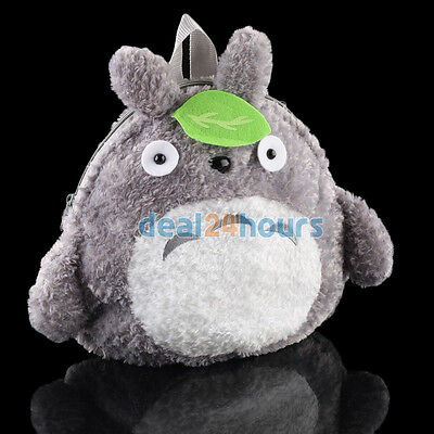 "New Cute My Neighbor Totoro Backpack Shoulder Bag Plush Stuffed 11"" Kids Gift"