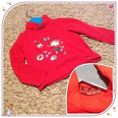Sous pull Chapern rouge SERGENT MAJOR fille 3 ans TTBE sergent major