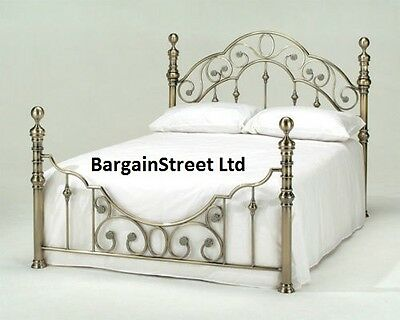 New Luxury Double 4'6ft Brass Bed Frame Bedstead Frame
