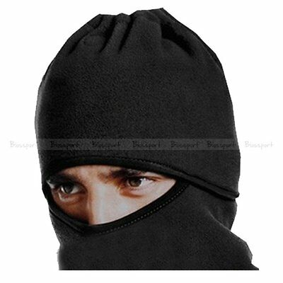 Bike Cycling Motorcycle Thicker Layer Warm Full Face Cover Beanie Warm Hat Black