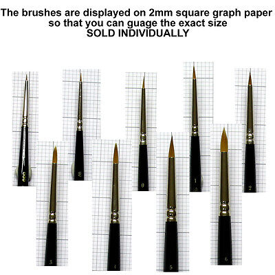 Winsor and Newton Series 7 Kolinsky sable brushes - miniature - short handled
