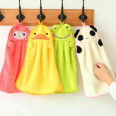 Sweet Nursery Hand Towel Soft Plush Cartoon Animal Hanging Wipe Bathing Towel ZK