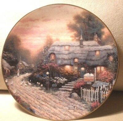 "Olde Porterfield Tea Room 8"" Plate Thomas Kinkade First Issue Hand-Numbered"