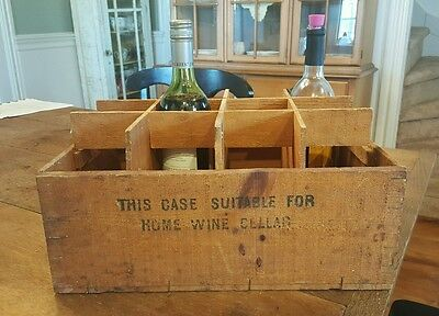 Vintage Advertising Curse Wooden Wine Crate/Box -Decorative Display Decor Rustic
