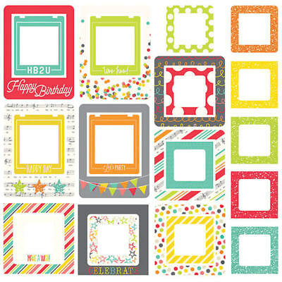 Simple Stories - Lets Party - Chipboard Frames 24 tlg