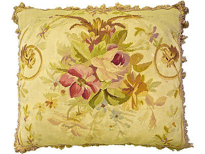 Antique 18th C. Tapestry Pillow